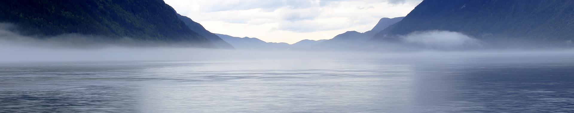 Song lyrics - Mist over ocean between mountains